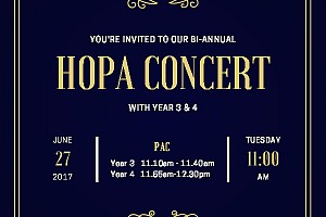 Year 3&4 HOPA Concert