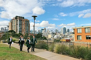 Geography students discovering the past in Pyrmont